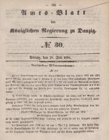 Amts-Blatt der Königlichen Regierung zu Danzig, 28. Juli 1858, Nr. 30