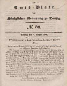 Amts-Blatt der Königlichen Regierung zu Danzig, 4. August 1858, Nr. 31