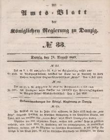 Amts-Blatt der Königlichen Regierung zu Danzig, 18. August 1858, Nr. 33
