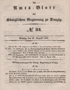 Amts-Blatt der Königlichen Regierung zu Danzig, 25. August 1858, Nr. 34
