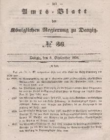 Amts-Blatt der Königlichen Regierung zu Danzig, 8. September 1858, Nr. 36