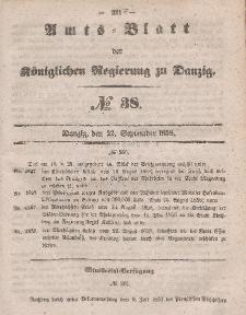 Amts-Blatt der Königlichen Regierung zu Danzig, 22. September 1858, Nr. 38