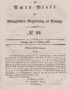 Amts-Blatt der Königlichen Regierung zu Danzig, 13. Oktober 1858, Nr. 41