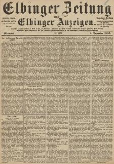 Elbinger Zeitung und Elbinger Anzeigen, Nr. 289 Mittwoch 9. Dezember 1885
