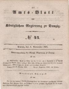 Amts-Blatt der Königlichen Regierung zu Danzig, 3. November 1858, Nr. 44