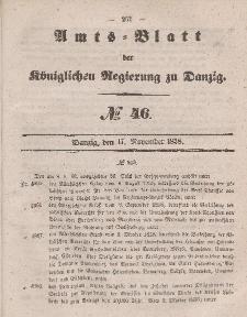 Amts-Blatt der Königlichen Regierung zu Danzig, 17. November 1858, Nr. 46