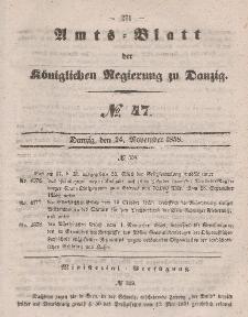 Amts-Blatt der Königlichen Regierung zu Danzig, 24. November 1858, Nr. 47