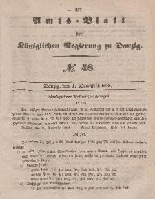Amts-Blatt der Königlichen Regierung zu Danzig, 1. Dezember 1858, Nr. 48