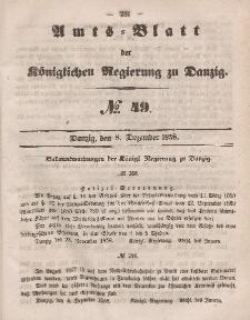 Amts-Blatt der Königlichen Regierung zu Danzig, 8. Dezember 1858, Nr. 49