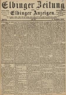 Elbinger Zeitung und Elbinger Anzeigen, Nr. 291 Freitag 11. Dezember 1885