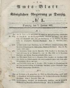Amts-Blatt der Königlichen Regierung zu Danzig, 7. Januar 1857, Nr. 1