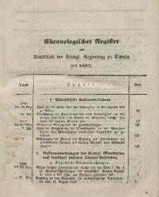 Amts-Blatt der Königlichen Regierung zu Danzig. Jahrgang 1857 (Chronologisches Register)