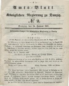 Amts-Blatt der Königlichen Regierung zu Danzig, 14. Januar 1857, Nr. 2