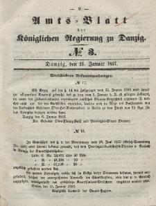 Amts-Blatt der Königlichen Regierung zu Danzig, 21. Januar 1857, Nr. 3