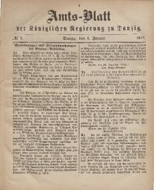 Amts-Blatt der Königlichen Regierung zu Danzig, 4. Januar 1871, Nr. 1