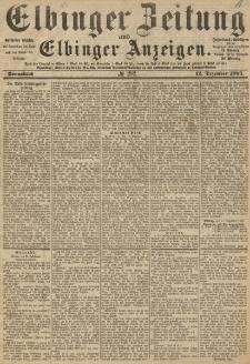 Elbinger Zeitung und Elbinger Anzeigen, Nr. 292 Sonnabend 12. Dezember 1885