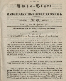 Amts-Blatt der Königlichen Regierung zu Danzig, 11. Februar 1852, Nr. 6