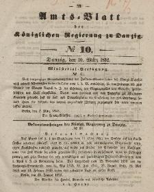 Amts-Blatt der Königlichen Regierung zu Danzig, 10. März 1852, Nr. 10