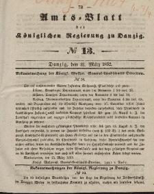 Amts-Blatt der Königlichen Regierung zu Danzig, 31. März 1852, Nr. 13
