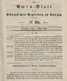 Amts-Blatt der Königlichen Regierung zu Danzig, 5. Mai 1852, Nr. 18