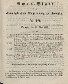Amts-Blatt der Königlichen Regierung zu Danzig, 12. Mai 1852, Nr. 19