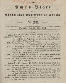 Amts-Blatt der Königlichen Regierung zu Danzig, 16. Juni 1852, Nr. 24
