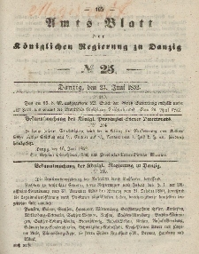 Amts-Blatt der Königlichen Regierung zu Danzig, 23. Juni 1852, Nr. 25