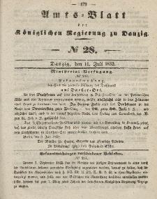 Amts-Blatt der Königlichen Regierung zu Danzig, 14. Juli 1852, Nr. 28