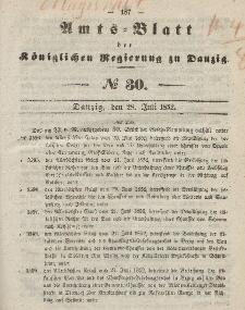 Amts-Blatt der Königlichen Regierung zu Danzig, 28. Juli 1852, Nr. 30