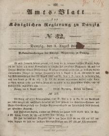 Amts-Blatt der Königlichen Regierung zu Danzig, 11. August 1852, Nr. 32
