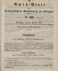 Amts-Blatt der Königlichen Regierung zu Danzig, 18. August 1852, Nr. 33