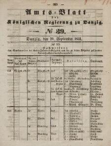 Amts-Blatt der Königlichen Regierung zu Danzig, 29. September 1852, Nr. 39