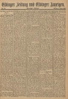 Elbinger Zeitung und Elbinger Anzeigen, Nr. 231 Sonntag 1. Oktober 1893