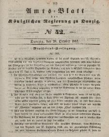 Amts-Blatt der Königlichen Regierung zu Danzig, 20. Oktober 1852, Nr. 42