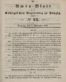 Amts-Blatt der Königlichen Regierung zu Danzig, 3. November 1852, Nr. 44