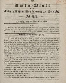 Amts-Blatt der Königlichen Regierung zu Danzig, 10. November 1852, Nr. 45