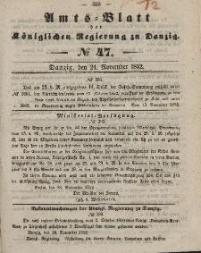 Amts-Blatt der Königlichen Regierung zu Danzig, 24. November 1852, Nr. 47