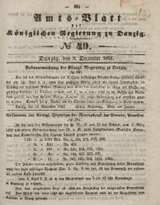 Amts-Blatt der Königlichen Regierung zu Danzig, 8. Dezember 1852, Nr. 49