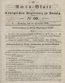 Amts-Blatt der Königlichen Regierung zu Danzig, 15. Dezember 1852, Nr. 50