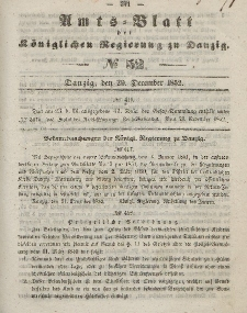 Amts-Blatt der Königlichen Regierung zu Danzig, 29. Dezember 1852, Nr. 52