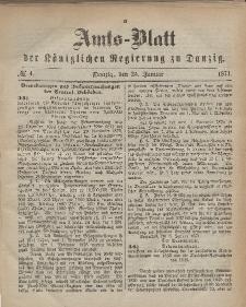 Amts-Blatt der Königlichen Regierung zu Danzig, 25. Januar 1871, Nr. 4