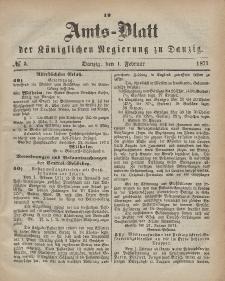 Amts-Blatt der Königlichen Regierung zu Danzig, 1. Februar 1871, Nr. 5
