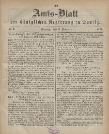 Amts-Blatt der Königlichen Regierung zu Danzig, 8. Februar 1871, Nr. 6