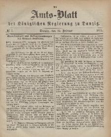Amts-Blatt der Königlichen Regierung zu Danzig, 15. Februar 1871, Nr. 7