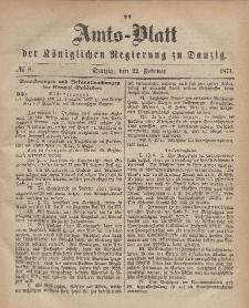 Amts-Blatt der Königlichen Regierung zu Danzig, 22. Februar 1871, Nr. 8