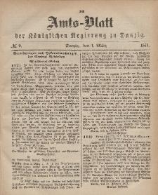 Amts-Blatt der Königlichen Regierung zu Danzig, 1. März 1871, Nr. 9
