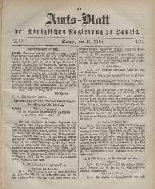 Amts-Blatt der Königlichen Regierung zu Danzig, 29. März 1871, Nr. 13