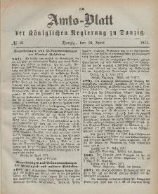 Amts-Blatt der Königlichen Regierung zu Danzig, 19. April 1871, Nr. 16