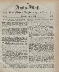 Amts-Blatt der Königlichen Regierung zu Danzig, 3. Mai 1871, Nr. 18