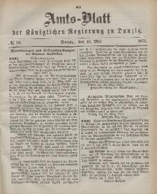 Amts-Blatt der Königlichen Regierung zu Danzig, 10. Mai 1871, Nr. 19